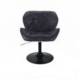 Židle MILANO na černé kulaté podstavě - černá