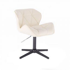 Židle MILANO na černém kříži - krémová