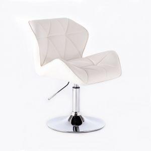 Židle MILANO na kulaté podstavě bílá