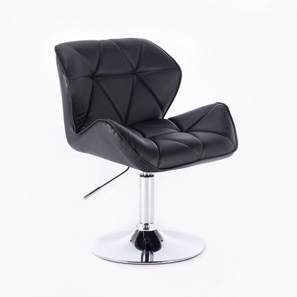 Židle MILANO na kulaté podstavě - černá