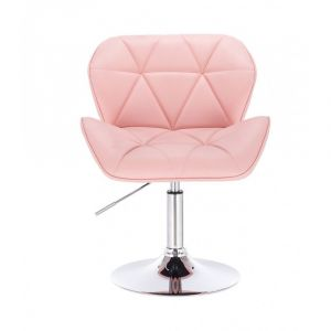 Židle MILANO na kulaté podstavě růžová