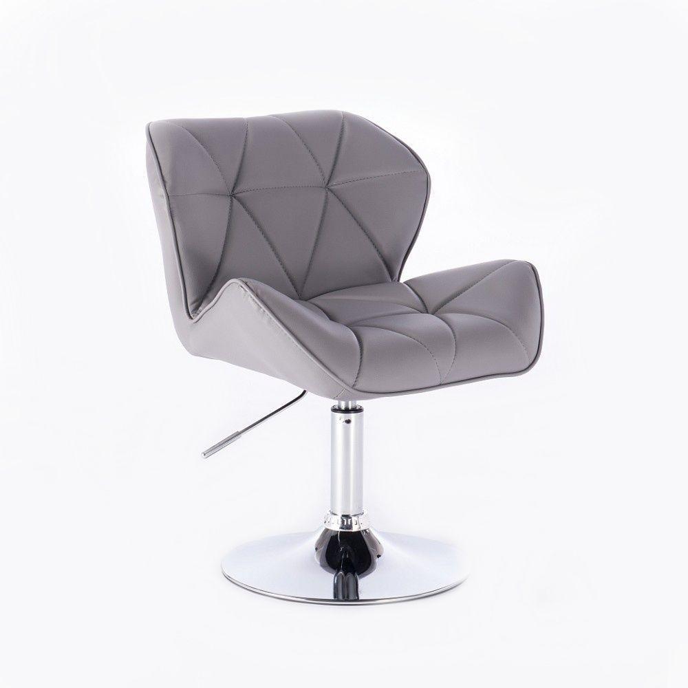 Židle MILANO na kulaté podstavě šedá