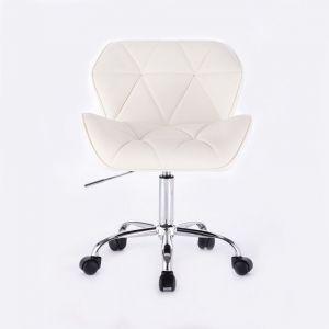 Židle MILANO na podstavě s kolečky bílá
