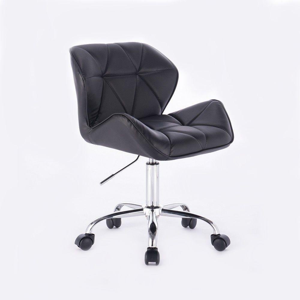 Židle MILANO na podstavě s kolečky - černá