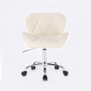 Židle MILANO na podstavě s kolečky krémová