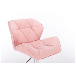 Židle MILANO na podstavě s kolečky růžová