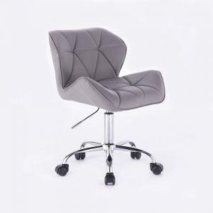 Židle MILANO na podstavě s kolečky šedá