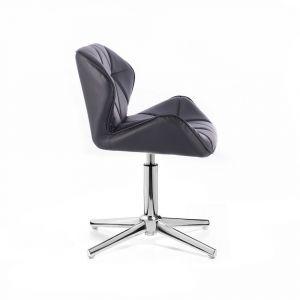 Židle MILANO na stříbrném kříži - černá