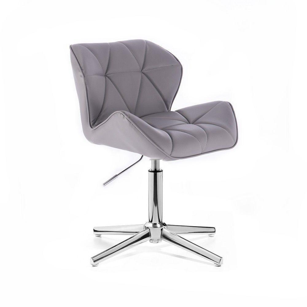 Židle MILANO na stříbrném kříži - šedá
