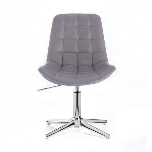 Židle PARIS na stříbrném kříži - šedá