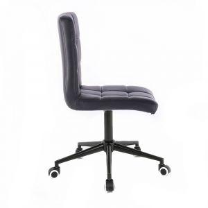 Židle TOLEDO na černé podstavě s kolečky - černá