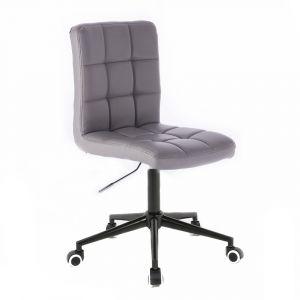Židle TOLEDO na černé podstavě s kolečky  - šedá
