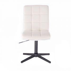 Židle TOLEDO na černém kříži - bílá