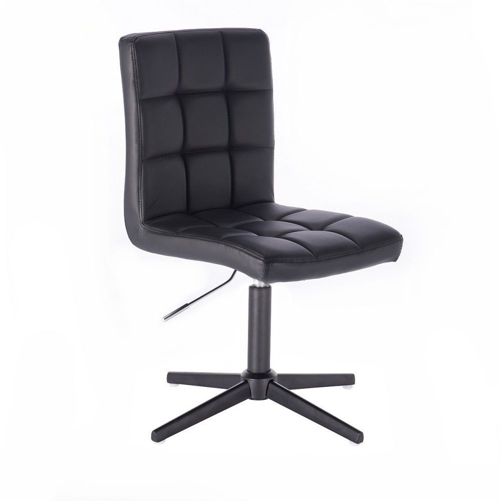 Židle TOLEDO na černém kříži - černá