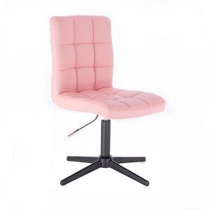 Židle TOLEDO na černém kříži - růžová