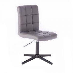 Židle TOLEDO na černém kříži - šedá
