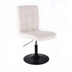 Židle TOLEDO na černém talíři - bílá