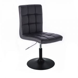 Židle TOLEDO na černém talíři - černá