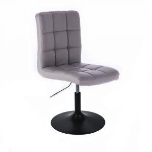 Židle TOLEDO na černém talíři - šedá