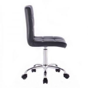 Židle TOLEDO na stříbrné podstavě s kolečky - černá