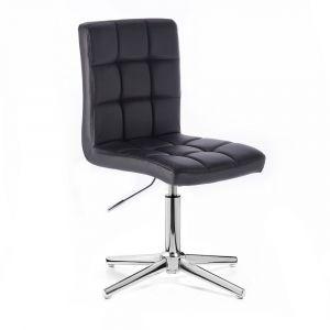 Židle TOLEDO na stříbrném kříži - černá