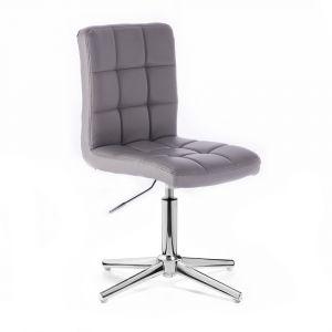 Židle TOLEDO na stříbrném kříži - šedá