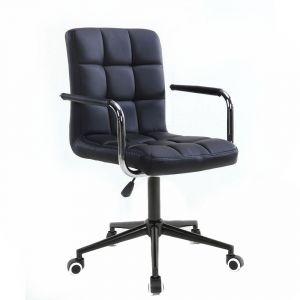 Židle VERONA na černé podstavě s kolečky -  černá