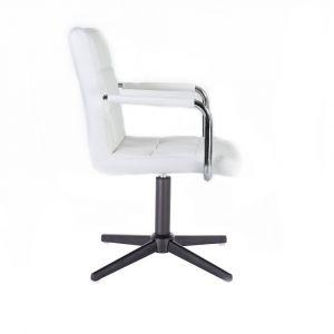 Židle VERONA na černém kříži - bílá