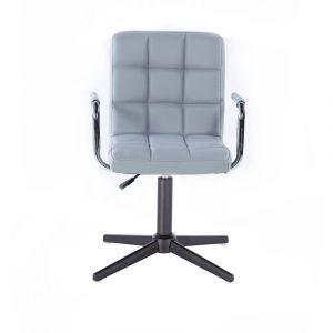 Židle VERONA na černém kříži - šedá
