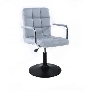 Židle VERONA na černém talíři - šedá