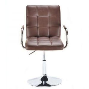 Židle VERONA na kulaté podstavě hnědá
