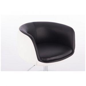 Kosmetická židle MONTANA na podstavě s kolečky černobílá