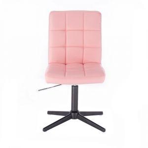 Kosmetická židle TOLEDO na černém kříži - růžová