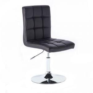 Kosmetická židle TOLEDO na kulaté podstavě černá