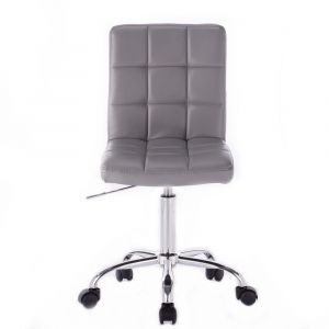 Kosmetická židle TOLEDO na podstavě s kolečky šedá