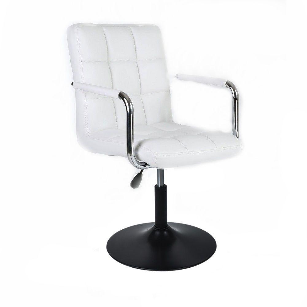 Kosmetická židle VERONA na černém talíři - bílá