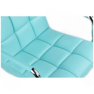 Kosmetická židle VERONA na podstavě s kolečky - tyrkysová