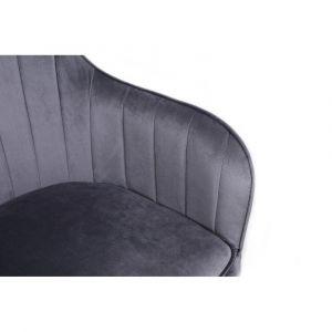 Kosmetické křeslo DARIO VELUR - šedé
