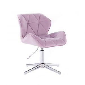 Židle MILANO VELUR na stříbrném kříži - fialový vřes
