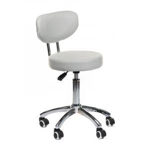 Židle BERGAMO na podstavě s kolečky šedá