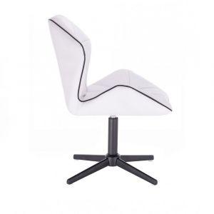 Židle MILANO MAX na černém kříži - bílá