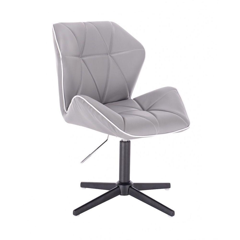 Židle MILANO MAX na černém kříži - šedá