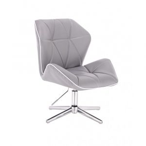 Židle MILANO MAX na stříbrném kříži - šedá