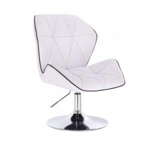 Židle MILANO MAX na stříbrném talíři - bílá