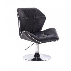 Židle MILANO MAX na stříbrném talíři - černá