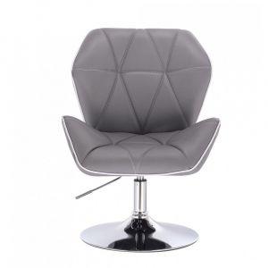 Židle MILANO MAX na stříbrném talíři - šedá