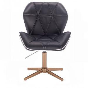 Židle MILANO MAX na zlatém kříži - černá