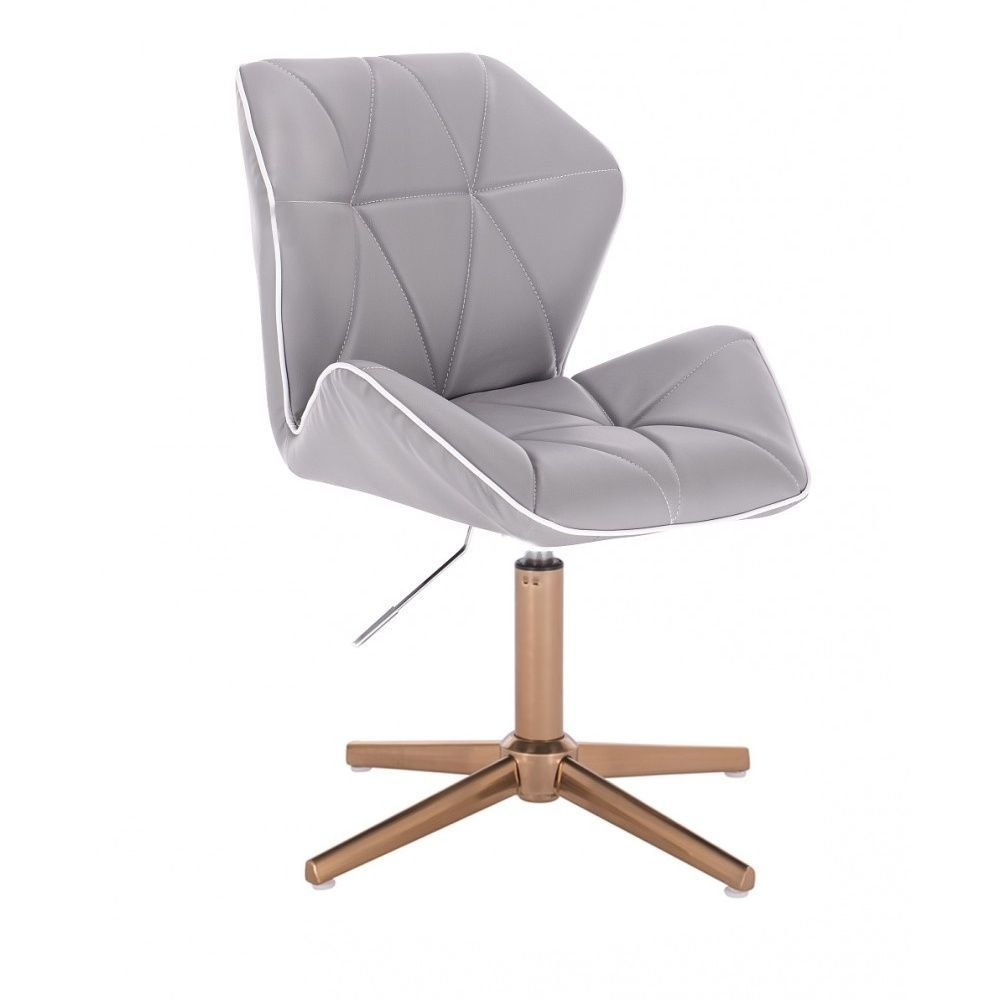 Židle MILANO MAX na zlatém kříži - šedá