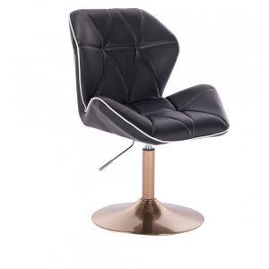 Židle MILANO MAX na zlatém talíři - černá