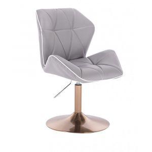 Židle MILANO MAX na zlatém talíři - šedá